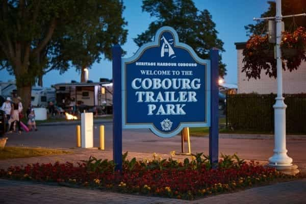 experience cobourg, attractions cobourg, cobourg attractions, cobourg marina, cobourg harbour, cobourg campground, victoria park campground, cobourg trailer park sign