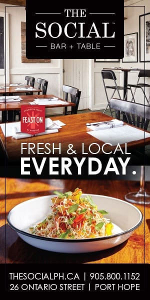 cobourg, cobourg tourism, experience cobourg, website, banner, digital ad, food, restaurant, port hope, port hope restaurant, the social, the social bar table
