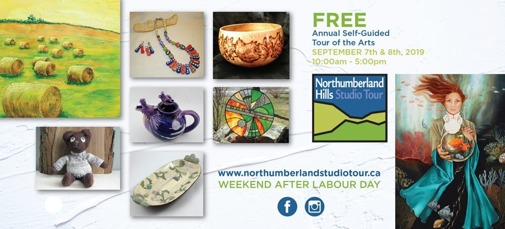 promotional rack card for the 2019 northumberland hills studio tour