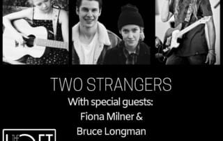 promotional poster for two strangers concert at the loft