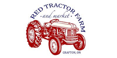 red tractor farm and market logo