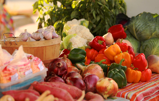 photo of fresh vegetables at farmers market
