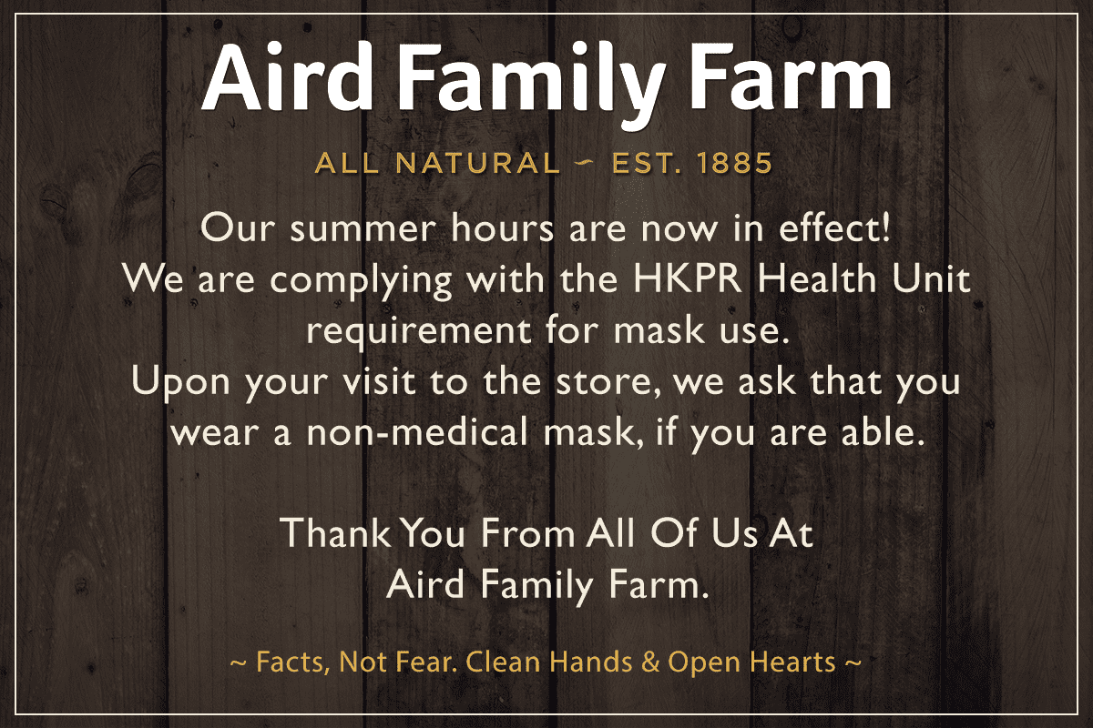 aird family farm covid-19 update